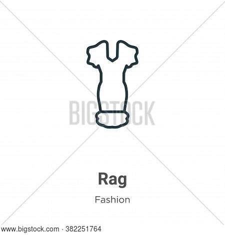 Rag icon isolated on white background from fashion collection. Rag icon trendy and modern Rag symbol
