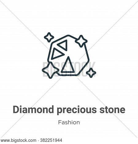 Diamond precious stone icon isolated on white background from fashion collection. Diamond precious s