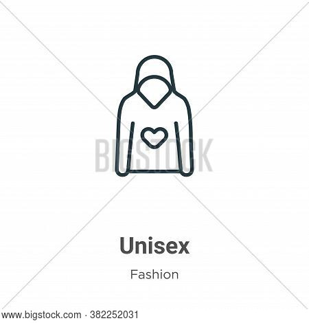 Unisex icon isolated on white background from fashion collection. Unisex icon trendy and modern Unis