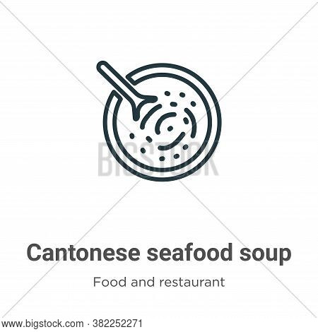 Cantonese seafood soup icon isolated on white background from food and restaurant collection. Canton
