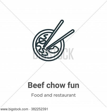 Beef chow fun icon isolated on white background from food and restaurant collection. Beef chow fun i