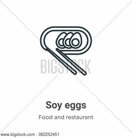 Soy eggs icon isolated on white background from food and restaurant collection. Soy eggs icon trendy