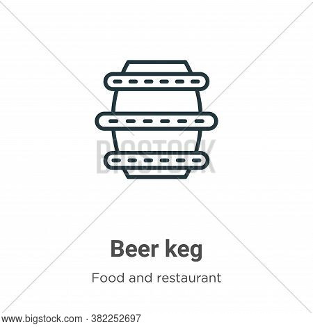 Beer keg icon isolated on white background from food and restaurant collection. Beer keg icon trendy