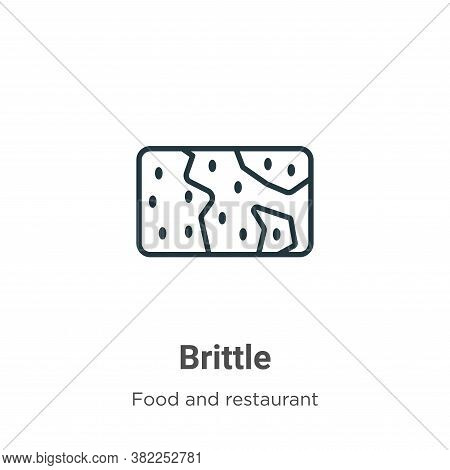 Brittle icon isolated on white background from food and restaurant collection. Brittle icon trendy a