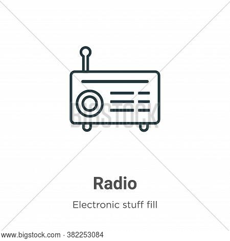 Radio icon isolated on white background from electronic stuff fill collection. Radio icon trendy and