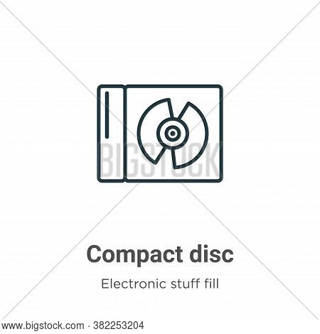 Compact disc icon isolated on white background from electronic stuff fill collection. Compact disc i