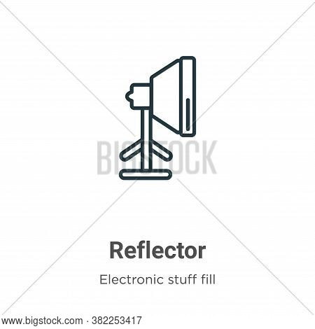 Reflector icon isolated on white background from electronic stuff fill collection. Reflector icon tr
