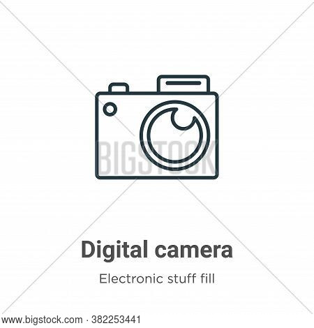 Digital camera icon isolated on white background from electronic stuff fill collection. Digital came