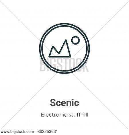 Scenic icon isolated on white background from electronic stuff fill collection. Scenic icon trendy a