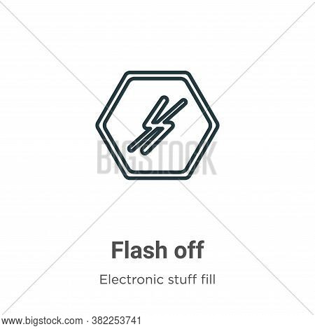 Flash off icon isolated on white background from electronic stuff fill collection. Flash off icon tr
