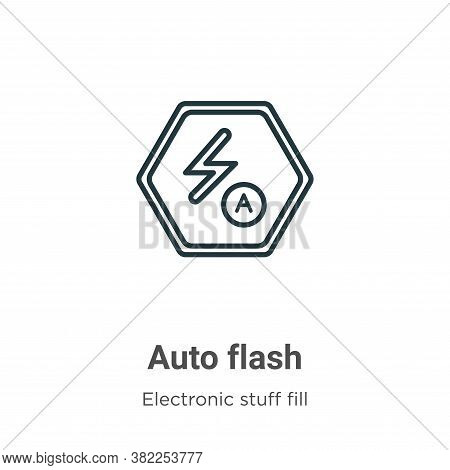 Auto flash icon isolated on white background from electronic stuff fill collection. Auto flash icon