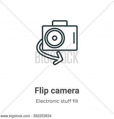 Flip camera icon isolated on white background from electronic stuff fill collection. Flip camera ico