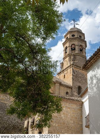 Photograph Of A Tower Of The Baeza Cathedral In The Province Of Jaen, Andalusia, Spain