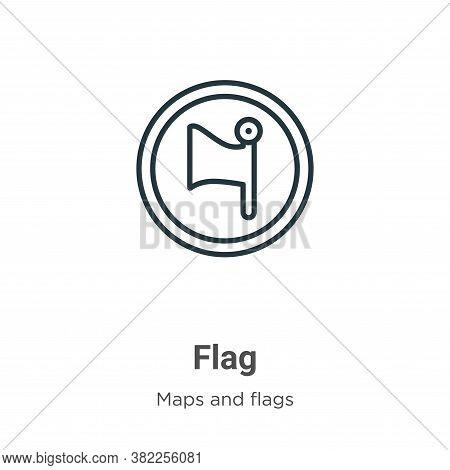 Flag icon isolated on white background from maps and flags collection. Flag icon trendy and modern F