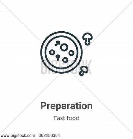 Preparation icon isolated on white background from fast food collection. Preparation icon trendy and