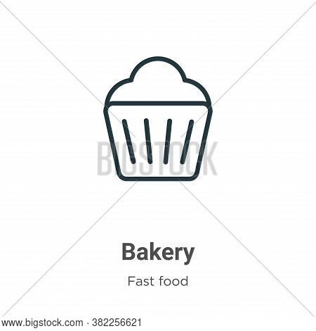 Bakery icon isolated on white background from fast food collection. Bakery icon trendy and modern Ba