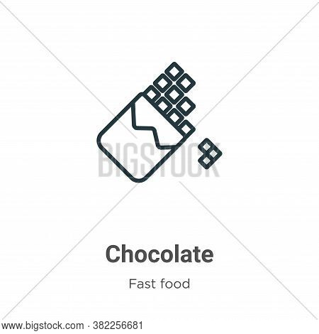 Chocolate icon isolated on white background from fast food collection. Chocolate icon trendy and mod