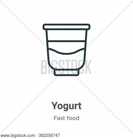 Yogurt icon isolated on white background from fast food collection. Yogurt icon trendy and modern Yo