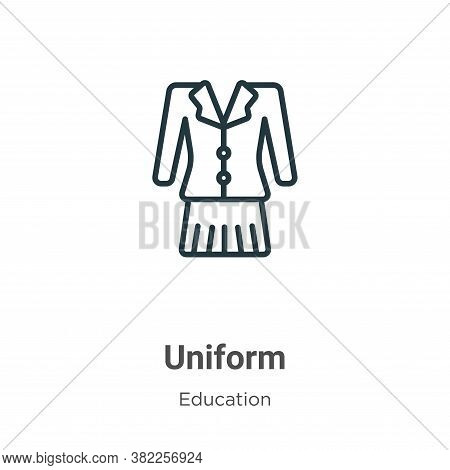 Uniform icon isolated on white background from education collection. Uniform icon trendy and modern