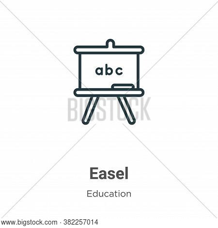 Easel icon isolated on white background from education collection. Easel icon trendy and modern Ease