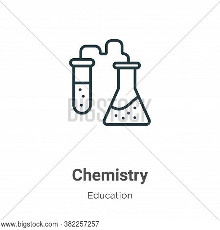 Chemistry icon isolated on white background from education collection. Chemistry icon trendy and mod