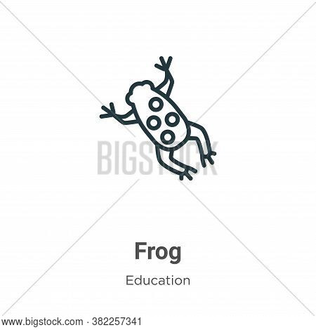 Frog icon isolated on white background from education collection. Frog icon trendy and modern Frog s