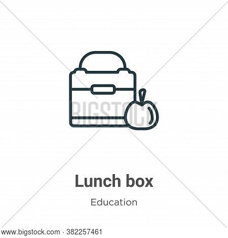 Lunch box icon isolated on white background from education collection. Lunch box icon trendy and mod