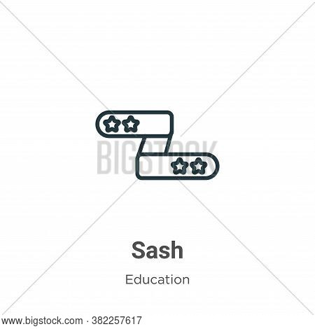 Sash icon isolated on white background from graduation and education collection. Sash icon trendy an