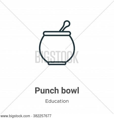 Punch bowl icon isolated on white background from graduation and education collection. Punch bowl ic
