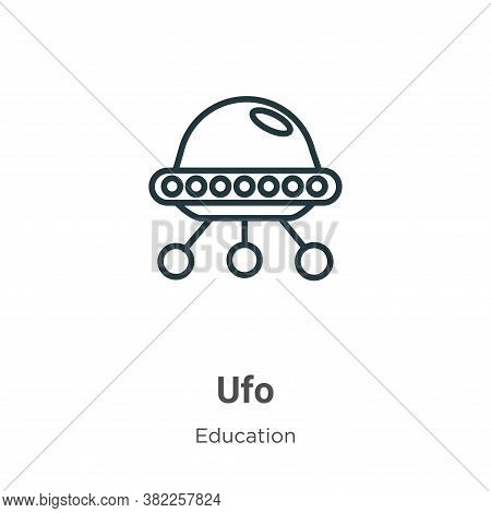 Ufo icon isolated on white background from literature collection. Ufo icon trendy and modern Ufo sym