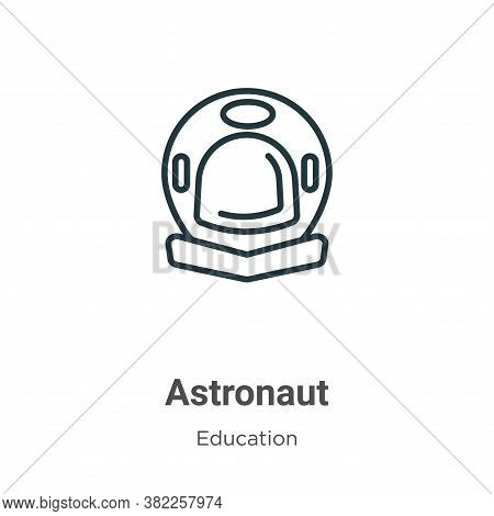 Astronaut icon isolated on white background from literature collection. Astronaut icon trendy and mo