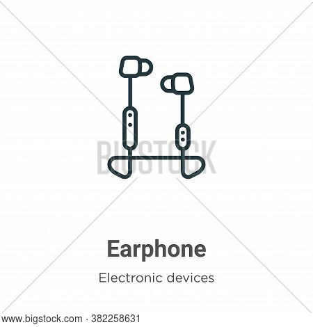 Earphone icon isolated on white background from electronic devices collection. Earphone icon trendy