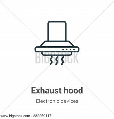 Exhaust hood icon isolated on white background from electronic devices collection. Exhaust hood icon
