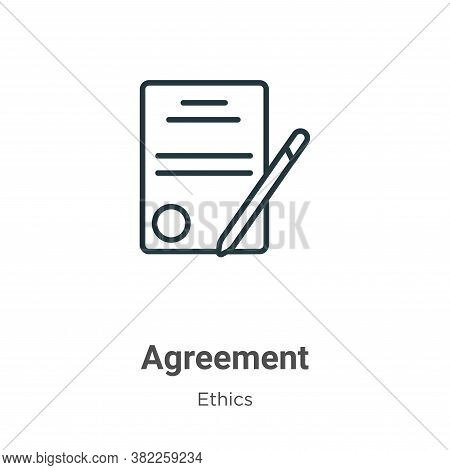 Agreement icon isolated on white background from ethics collection. Agreement icon trendy and modern
