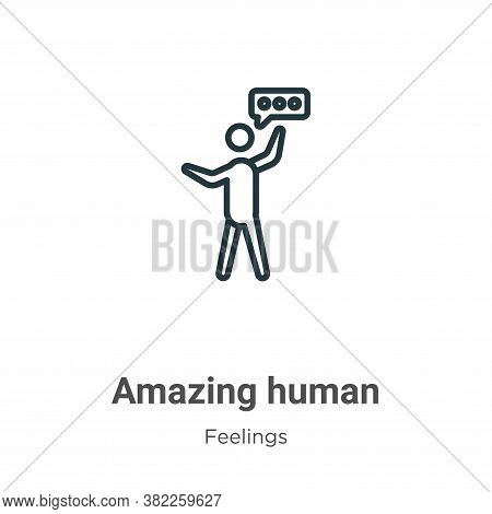 Amazing human icon isolated on white background from feelings collection. Amazing human icon trendy