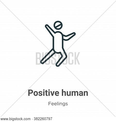 Positive human icon isolated on white background from feelings collection. Positive human icon trend