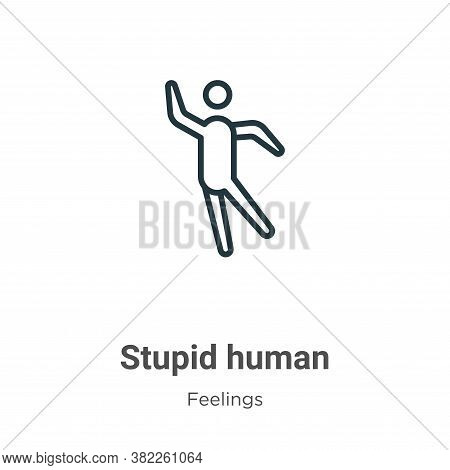 Stupid human icon isolated on white background from feelings collection. Stupid human icon trendy an