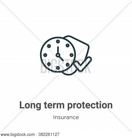 Long term protection icon isolated on white background from insurance collection. Long term protecti