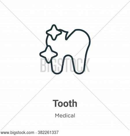 Tooth icon isolated on white background from medical collection. Tooth icon trendy and modern Tooth