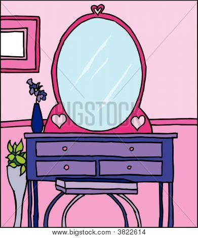 Girls Room With Dresser.eps
