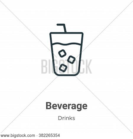 Beverage icon isolated on white background from drinks collection. Beverage icon trendy and modern B