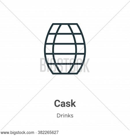 Cask Icon From Drinks Collection Isolated On White Background.