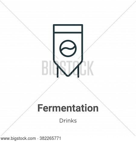 Fermentation icon isolated on white background from drinks collection. Fermentation icon trendy and