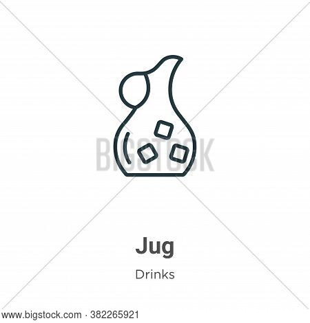 Jug icon isolated on white background from drinks collection. Jug icon trendy and modern Jug symbol