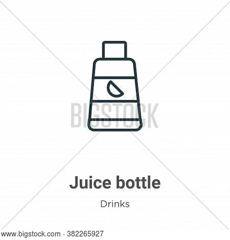 Juice bottle icon isolated on white background from drinks collection. Juice bottle icon trendy and