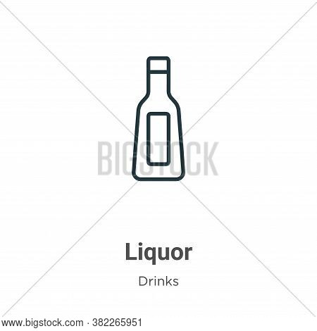 Liquor icon isolated on white background from drinks collection. Liquor icon trendy and modern Liquo