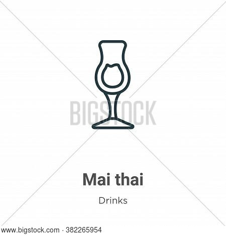 Mai thai icon isolated on white background from drinks collection. Mai thai icon trendy and modern M
