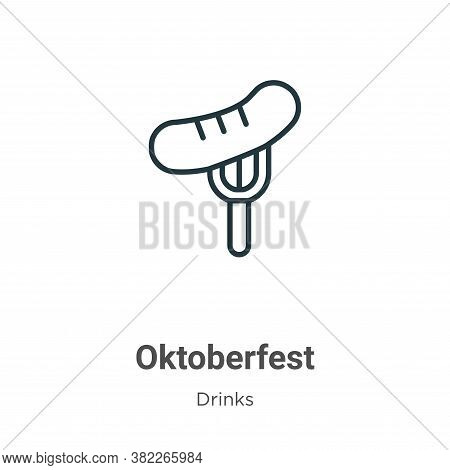 Oktoberfest icon isolated on white background from drinks collection. Oktoberfest icon trendy and mo