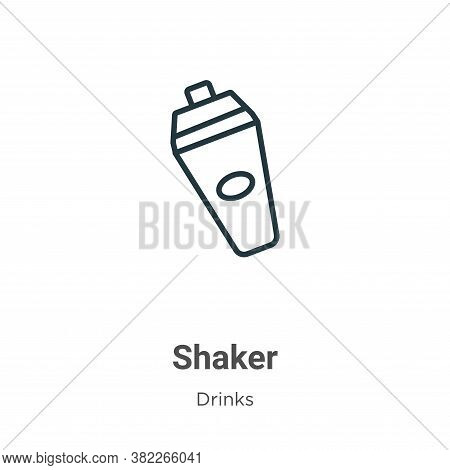 Shaker icon isolated on white background from drinks collection. Shaker icon trendy and modern Shake