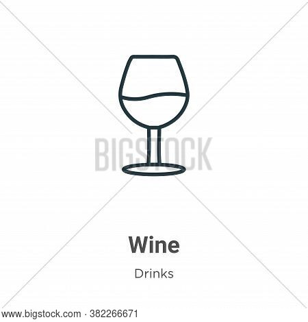 Wine icon isolated on white background from drinks collection. Wine icon trendy and modern Wine symb